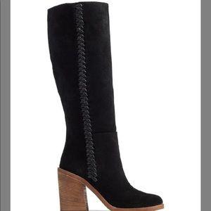 UGG NWOB Black Maeva Suede Leather Boots Size 10